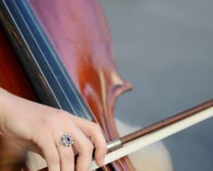Cellist developing talent